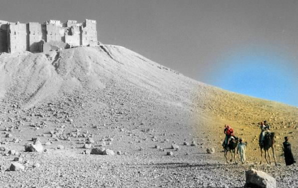 Foto di Valentina Perniciaro _una goccia di colore nell'infinito deserto_