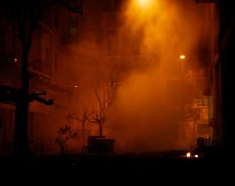 Foto di Valentina Perniciaro _Atene, intorno al Politecnico, tra i fumi dei lacrimogeni e dei gas_