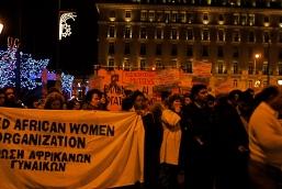Foto di Valentina Perniciaro _manifestazione di migranti a Syntagma, Atene_