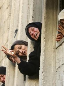 Foto di Mohammad Salem _Jabaliya, i funerali delle vittime del raid di ieri al rifugio Unrwa