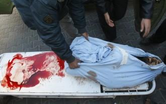 Foto di Mahmud Hams _I corpi spezzati di Gaza_