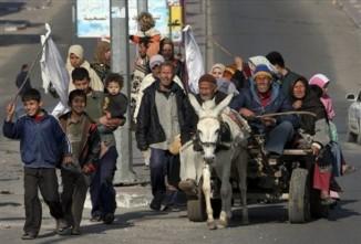 Foto di Khalil Hamra _Civili e sfollati di Jabaliya_