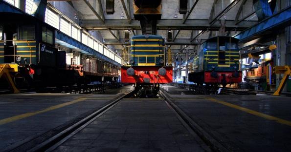 Foto di Valentina Perniciaro _Reparto manutenzione locomotori, Scalo San Lorenzo_