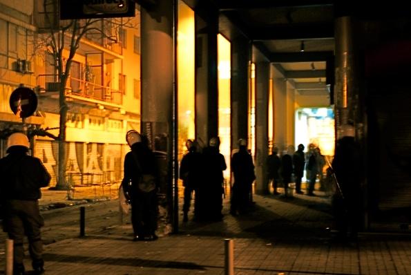 Foto di Valentina Perniciaro _Le lunghe nottate di Atene_ dicembre 2008