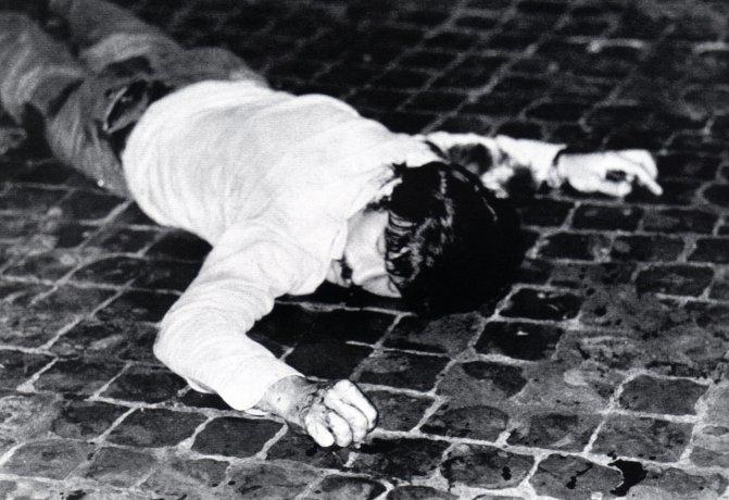 Antonio Lo Muscio, appena giustiziato