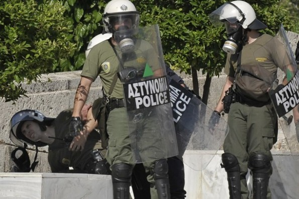 GREECE-IMMIGRATION-PROTEST-CLASHES
