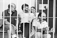 Alcuni militanti delle BR durante un processo